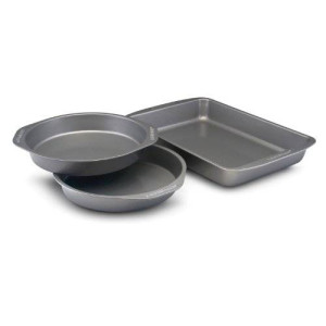 Farberware Nonstick Bakeware 3-Piece Cake Pan Value Set