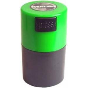 Tightpac America, Inc. Tightvac Vitavac-Pocketvac Vacuum Sealed Pill Box and Vitamin Container, 1/2-Ounce/ 06. Liter, Black Body/Green Cap
