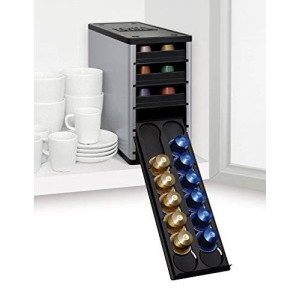 YouCopia CaféStack Nespresso Capsule Organizer, Electric Aluminum