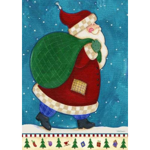 Toland Home Garden Working Santa 28 x 40-Inch Decorative USA-Produced House Flag