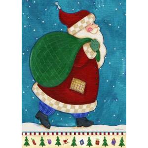 Toland Home Garden Working Santa 28 x 40-Inch Decorative USA-Produced House Flag