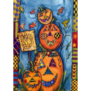 Toland Home Garden Pumpkin Patch 12.5 x 18-Inch Decorative USA-Produced Garden Flag