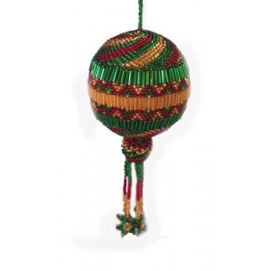 Santiago Atitlan Handcrafts Colored Christmas Ball (Large) Ornament Handmade in Guatemala