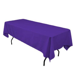LinenTablecloth 60 x 102-Inch Rectangular Polyester Tablecloth Purple