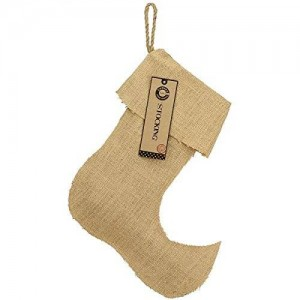 Canvas Corp Burlap Large Jester Stocking, 13.5-Inch by 17-Inch