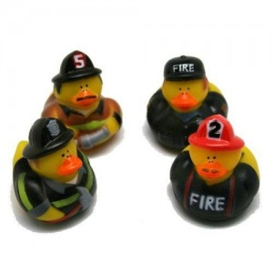 Fun Express Firefighter Fireman Fire Fighter Hero Rubber Ducks (12 Pack)
