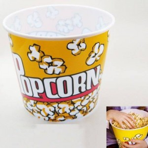 ATB Retro Style Popcorn Bowl Large Plastic Container, Reusable Tub Movie Theater Bucket