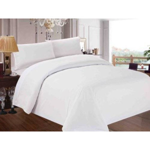 Red Nomad Luxury Duvet and Sham Set, 3 Piece, Full/Queen, White