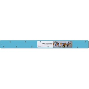 Three Three Three By Three Seattle Magnetic Strip Bulletin Board, Sky Blue (31120)