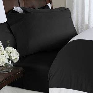 Elegant Comfort 2 Piece Luxurious Silky-Soft Pillowcases, Standard, Black
