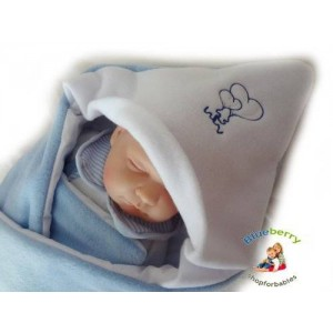 Blueberry Shop Blueberry Luxurious Very Warm Fleece Swaddle Wrap Blanket Sleeping Bag Birthday Gift Present Blue 1