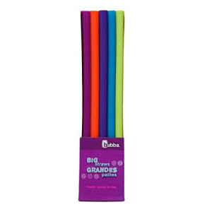 Bubba Brands Bubba Big Straw 5 Pack of Reusable Straws (Assorted Bold Colors)