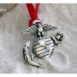 Trilogy Jewelry Pewter USMC Marine Corp Insignia Semper Fi Christmas Ornament and Holiday Decoration