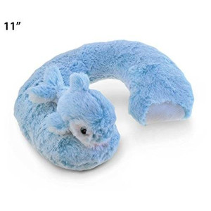 Puzzled Plush Super-Soft Travel Neck Pillow, Dolphin