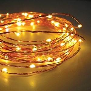 TORCHSTAR 33ft 120 LEDs Fairy LED Wire String Lights - Starry Starry Lights w/ Power Adapter for Festival