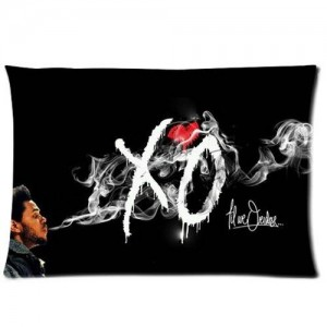The Weeknd Xo Black Custom Pillowcase Pillow Case Covers 20X30(One Side)