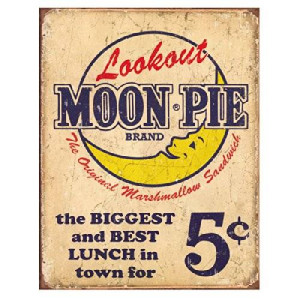 Desperate Enterprises Moon Pie Best Lunch Distressed Retro Vintage Tin Sign