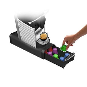 "Mind Reader ""Slim"" small capacity Single Serve Coffee Pod Storage Drawer, Black"