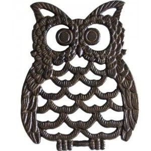 """Comfify Cast Iron Owl Trivet 
