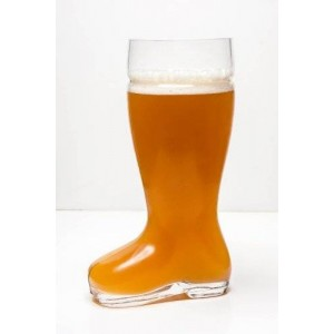Imperial Home High Quality Oktoberfest Style Glass Beer Boot / Das Boot - Octoberfest Glass Beer Mug - 2 Liter