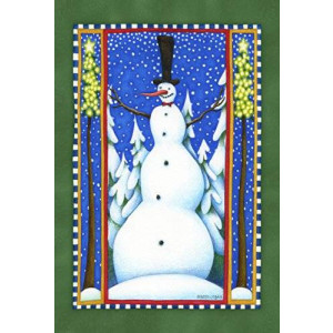 Toland Home Garden Stovepipe Snowman 12.5 x 18-Inch Decorative USA-Produced Garden Flag