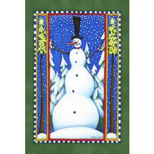 Toland Home Garden Stovepipe Snowman 12.5 x 18-Inch Decorative USA-Produced Garden Flag