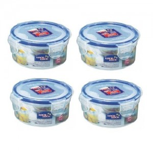 LockandLock Lock and Lock Food Container Snack Box, HPL932, 1.2-cup, 10-oz, Pack of 4