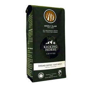 Kicking Horse Coffee Kicking Horse Ground Coffee, Grizzly Claw Dark Roast, 10 Ounce