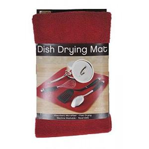Kitchen Basics 461710 Microfiber Dish Drying Mat, Red