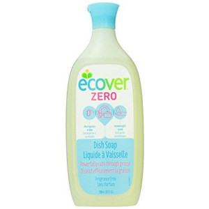 Ecover Dish Soap Liquid Zero, Fragrance Free, 25 Fluid Ounce