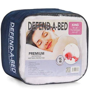 Classic Brands Defend-A-Bed Premium Hypoallergenic Waterproof Mattress Protector, Vinyl Free, Full