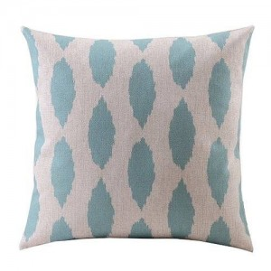"""Createforlife Create For-Life Cotton Linen Decorative Pillowcase Throw Pillow Cushion Cover Light Green Leaves Square 18"""""""