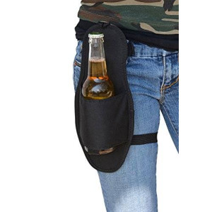 Fairly Odd Novelties Beer Hip Holster Single Bottle or Can Soda Beverage Holder
