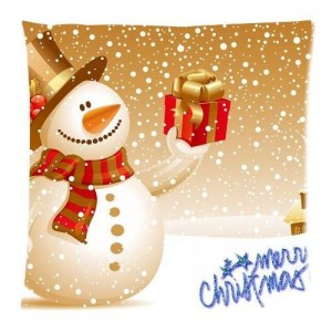 Generic 18x18 Pillow Case Comfortable Flannel Merry Christmas Custom Zippered Square Pillowcase 18x18 (one side) Cushion Cover Case Pillow18-898