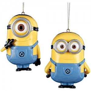 Kurt Adler Despicable Me Minion Dave and Carl Ornament - 2 Assorted