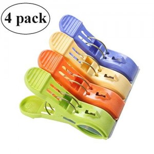 Marrywindix 4.9'' Over-size Clothes Towel Big Clips in Fun Bright Colors Set of 4