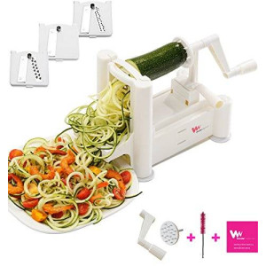 WonderVeg Slicer WonderVeg Vegetable Spiralizer - Tri Blade Slicer - Cleaning Brush