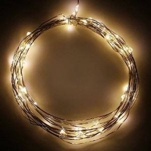 TORCHSTAR Battery Operated Fairy LED Wire String Lights - Warm White Starry Starry Lights w/ Timer Battery Box for Festival