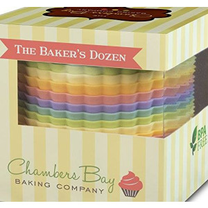 Chambers Bay Baking Company Premium Jumbo Reusable Nonstick Silicone Muffin Liners / Baking Cups - No BPA