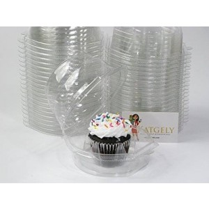 Katgely Inc Katgely Cupcake Boxes Cupcake Containers for Individual Cupcake, Set of 45