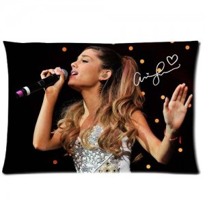 Tt-shop Soft Zippered Pillowcase Pillow case Cover 20*30 Inch (Twin sides) Singing Ariana Grande Yours Truly Music Signature Pattern