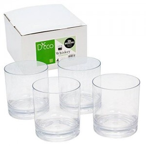 Deco Unbreakable Whiskey Glasses - 100% Tritan - Shatterproof, Reusable, Dishwasher Safe (Set of 4) by D'Eco
