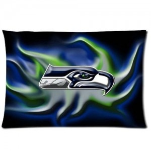 MOGUI Custom Seattle Seahawks Pattern 05 Pillowcase Cushion Cover Design Standard Size 20X30 Two Sides