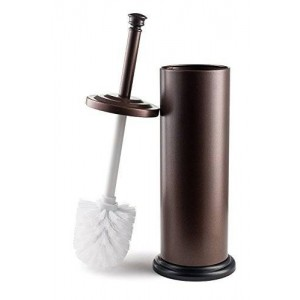 Estilo High Quality Stainless Steel Toilet Brush and Holder - Bronze