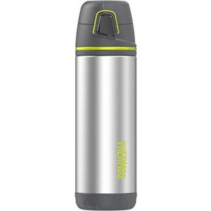 Thermos ELEMENT5 16 Ounce Vacuum Insulated Stainless Steel Backpack Bottle, Charcoal and Lime Accents