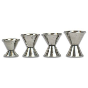 2dayship Cocktail Jigger Set, Stainless Steel, Set of 4