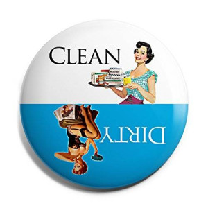 Aloha Girls Gifts Blue Retro Clean Dirty Dishwasher Magnet