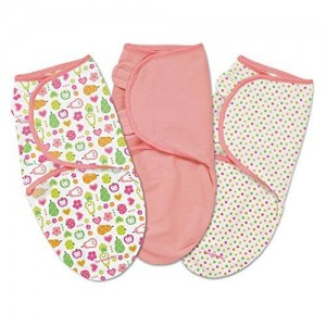 Summer Infant SwaddleMe 3 Piece Adjustable Infant Wrap, Fun Fruits, Small/Medium