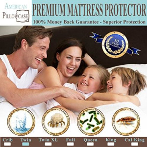 American Pillowcase Waterproof Mattress Protector - Hypoallergenic Dust Mite