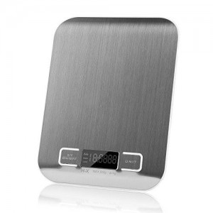 Elec3 Digital Multifunction Kitchen and Food Scale, Stainless Steel Platform with LCD Display, 5kg, (Silver)